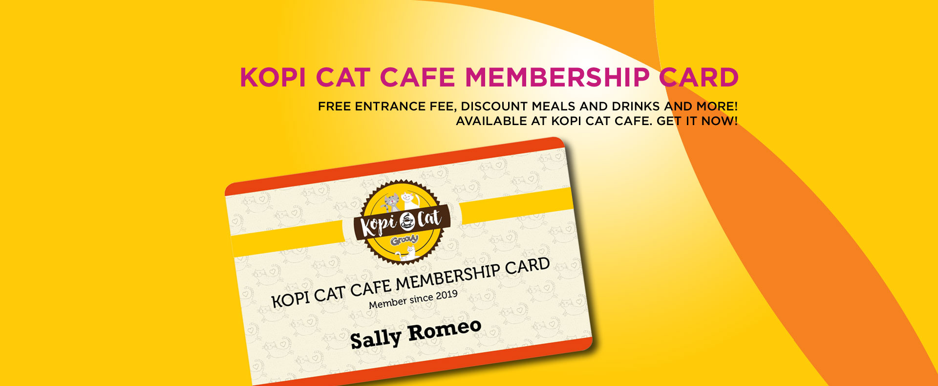 Kopi Cat Cafe Membership Card